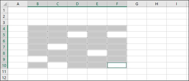Microsoft Excel. Удерживая в зажатом положении клавишу «Ctrl» нажимайте на нужные ячейки
