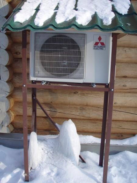 В мягком климате можно круглый год отапливаться кондиционером.