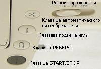 Клавиши управления швейной машиной