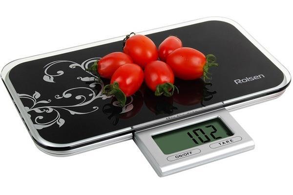 Плоские вместительные кухонные весы
