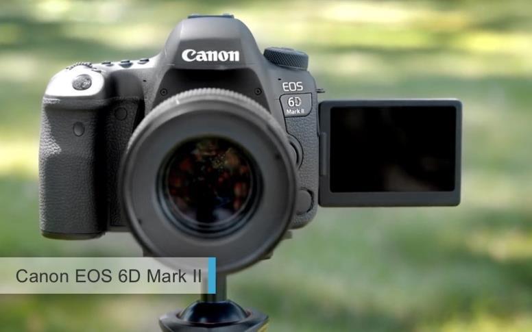 Лучшие полнокадровые фотоаппараты2017-2018среднего уровня. второе место: Canon EOS 6D Mark II