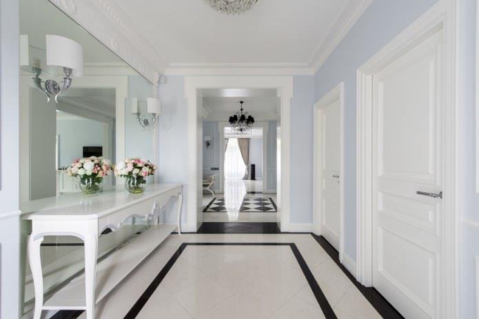 белые межкомнатные двери в коридоре