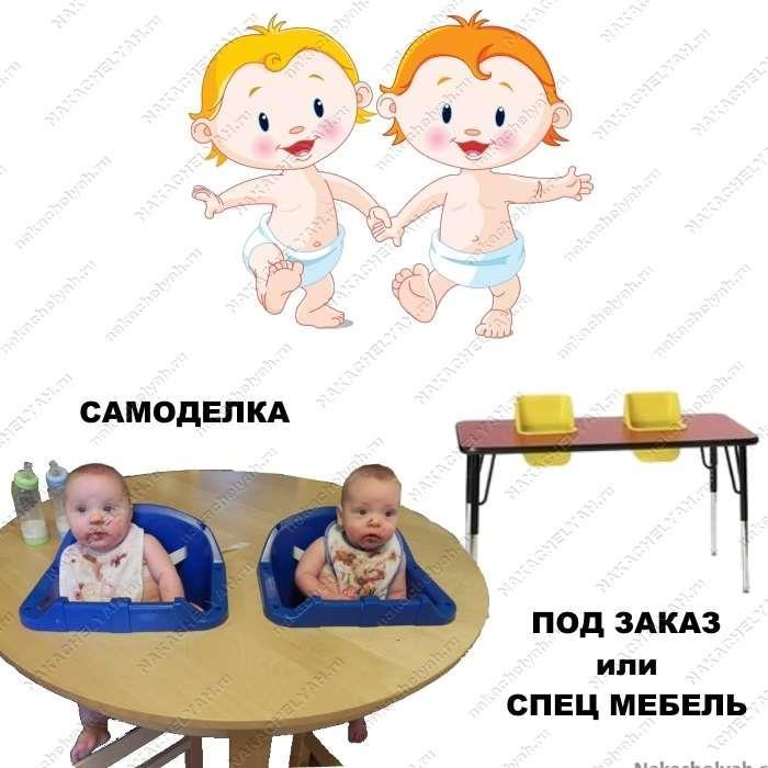 Какой стульчик для кормления выбрать для двойни