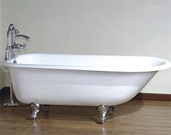 Чугунная ванна в интерьере (фото)