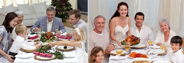 Семейный обед с родственниками будущего мужа