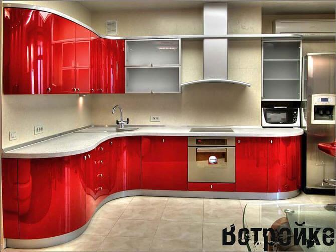 Крашенные кухонные фасады