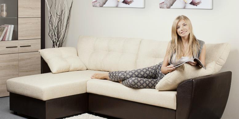 диван, девушка, комфорт