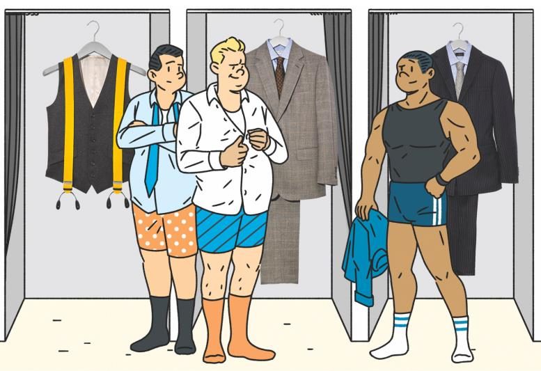 1. Рубашка Drake's 2. Костюм-тройка, рубашка, галстук все Gieves & Hawkes 3. Подтяжки, жилет, все Edward Sexton
