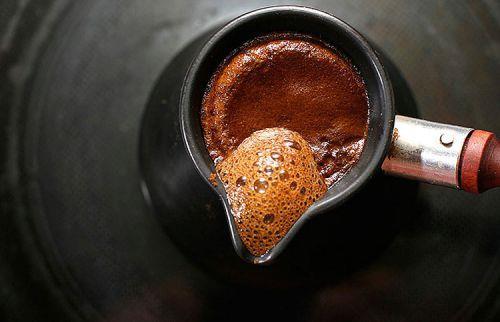 Появление пенки при варке кофе в турке