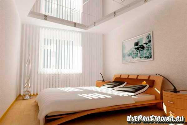 Цветовое увеличение спальной комнаты
