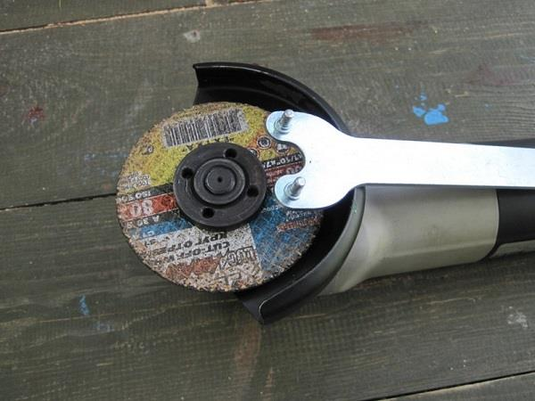 Замена диска на болгарке
