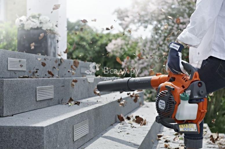 Пылесос и воздуходувка для уборки сада