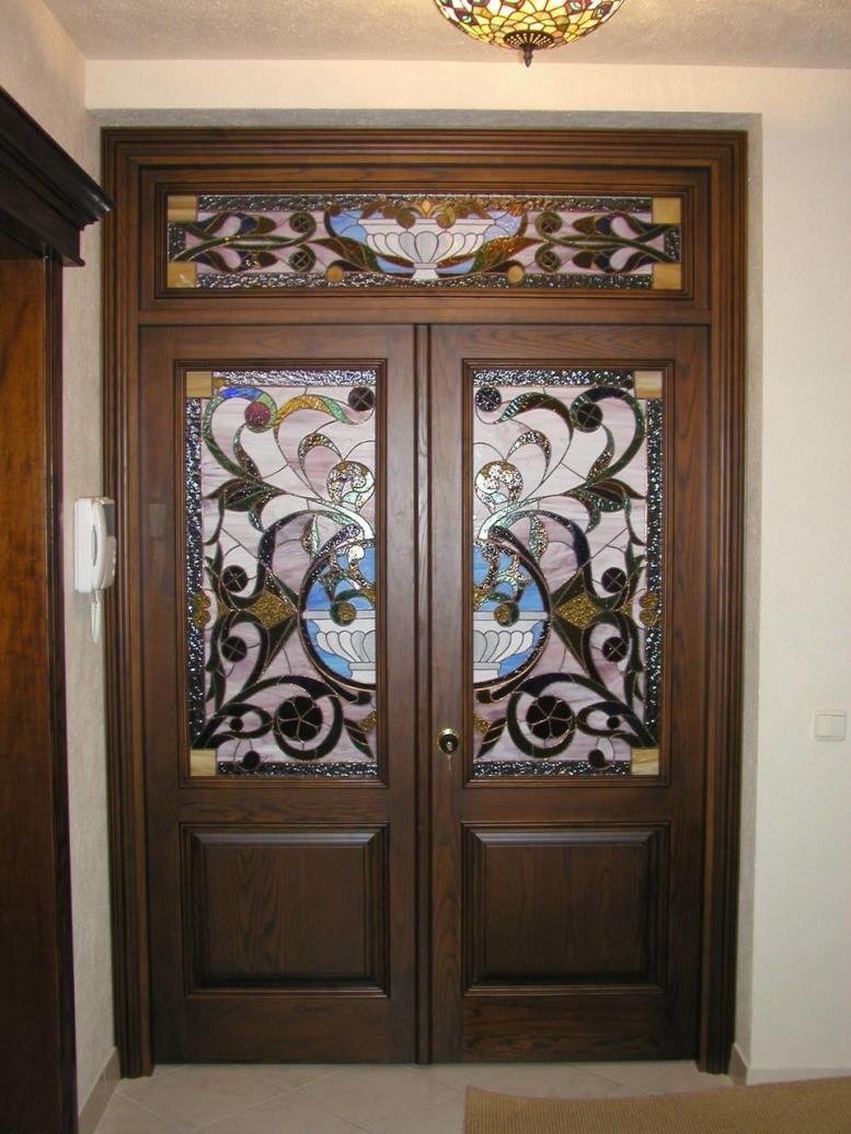 Дверные витражи