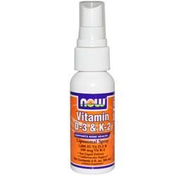Витамин Д3 и К2 Now Foods