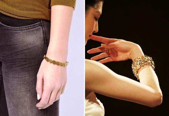 красивые браслеты из золота на руку