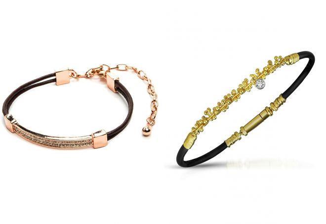 каучуковые браслеты с золотом для женщин