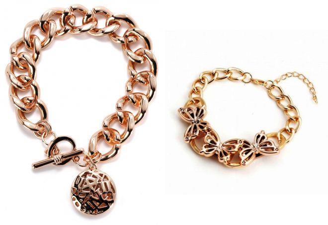 модные женские золотые браслеты