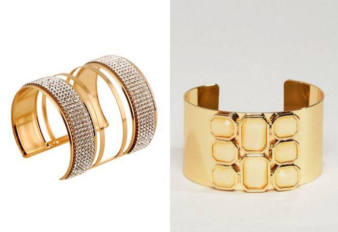 широкие браслеты из золота для женщин