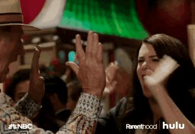 High Five Lauren Graham GIF by HULU - Find & Share on GIPHY