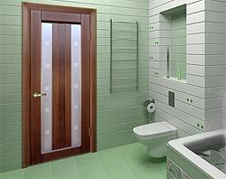 Какого размера дверь в ванной?