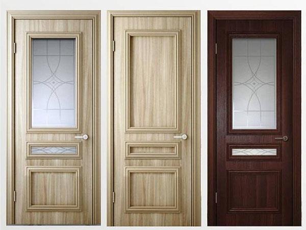 Двери с покрытием из ПВХ (фото)
