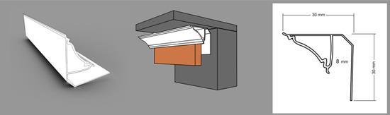 ПВХ плинтус для реечного потолка