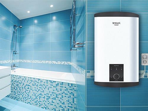 Плоский водонагреватель в интерьере (фото)
