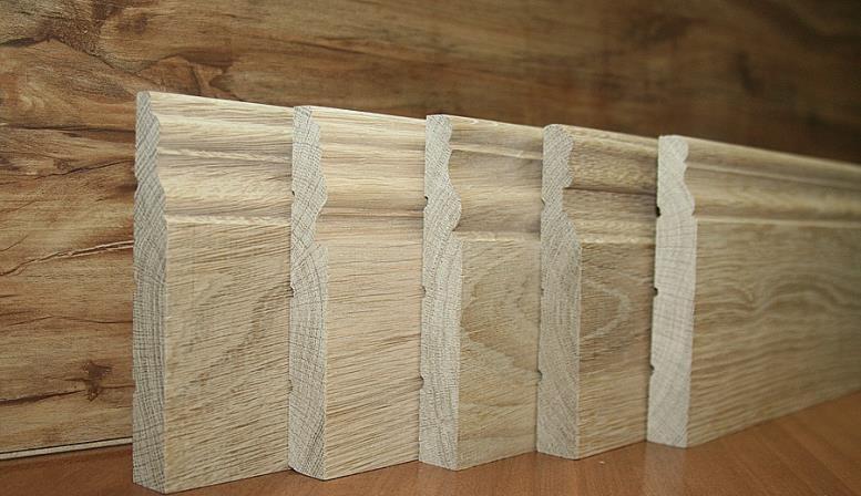 Фактура деревянных плинтусов