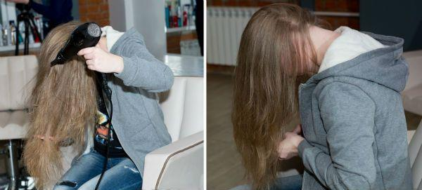 Сушка волос брашингом фото