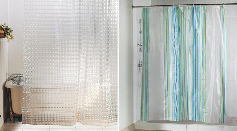 Полиэтиленовые шторки в ванную